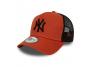 casquette trucker new york yankees orange accessoires-casquette