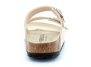 birkenstock arizona w eggshell-gold bk1019374 femme-chaussures-mules-sabots